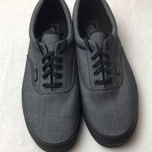 Vans Era Mono Chambray Black mens shoes size 11